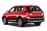 Car pictures of rear three quarter view of 2016 Mitsubishi Outlander GT 5 Door SUV Angular Rear
