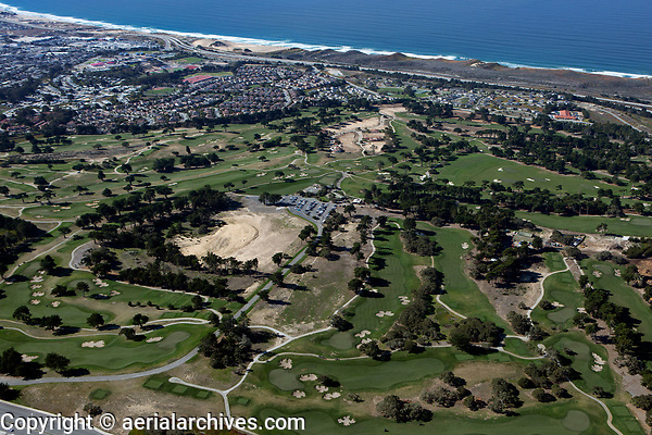 aerial photograph of Bayonet and Black Horse golf courses, Seaside, Monterey County, California