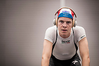 indoor turbo trainer session with Bob Jungels (LUX/Deceuninck-QuickStep)<br /> <br /> Team Deceuninck-QuickStep january 2020 training camp in Calpe, Spain<br />  <br /> ©kramon
