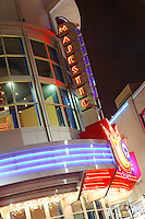 Majestic Theater in Downtown Silver Spring MD at night.