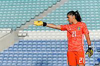20200304 Faro , Portugal : Swedish goalkeeper Zecira Musovic (21) pictured during the female football game between the national teams of Germany and Sweden on the first matchday of the Algarve Cup 2020 , a prestigious friendly womensoccer tournament in Portugal , on wednesday 4 th March 2020 in Faro , Portugal . PHOTO SPORTPIX.BE | STIJN AUDOOREN