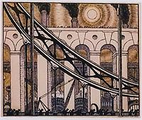 Mstislav Dobuzhinsky<br /> Project for the first Almanac 'Chipovnick', 1906
