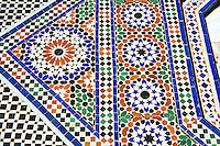 Berber Arabesque  Zellige tiles of the Marrakesh museum in the Dar Menebhi Palace, Marrakesh, Morocco