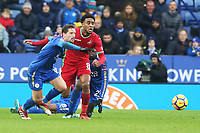 Leroy Fer of Swansea chases the loose ball during the Premier League match between Leicester City and Swansea City at the King Power Stadium, Leicester, England, UK. Saturday 03 February 2018