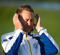 23.09.2014. Gleneagles, Auchterarder, Perthshire, Scotland.  The Ryder Cup.  during his practice round.