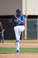 Kansas City Royals starting pitcher Ofreidy Gomez (56) during a Minor League Spring Training game against the Milwaukee Brewers at Maryvale Baseball Park on March 25, 2018 in Phoenix, Arizona. (Zachary Lucy/Four Seam Images)