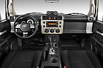 Straight dashboard view of a 2008 Toyota FJ Cruiser.
