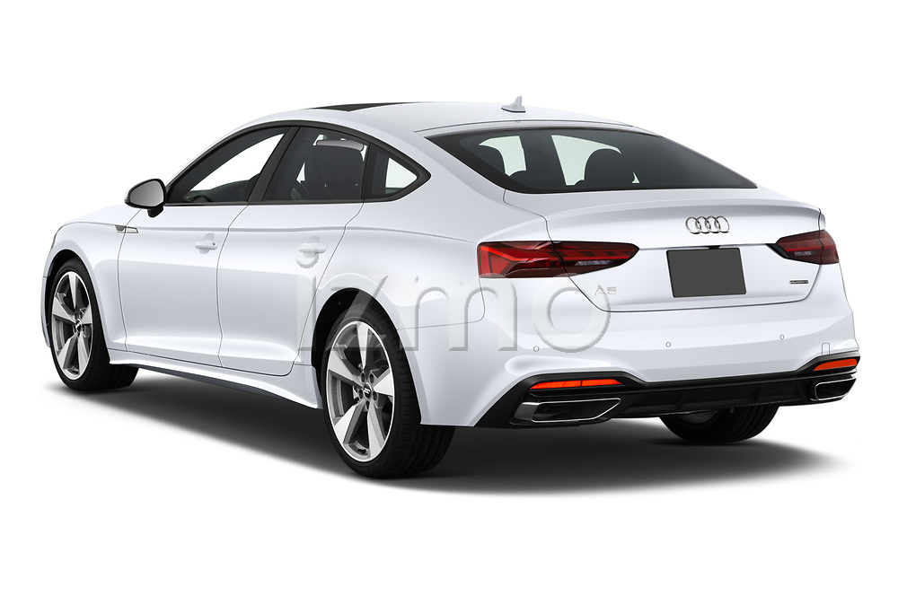 Car pictures of rear three quarter view of 2020 Audi A5-Sportback Premium-plus 5 Door Hatchback Angular Rear