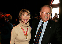 May 20 2005, Montreal (Qc) Canada <br /> <br /> Former Quebec Premier Bernard Landry (R) and wife at Independance Plus Que Jamais concert at Metropolis to commemorate the 25th anniversary of the first Referendum on Quebec Independance.<br /> Landry stepped down as leader of separatist PARTI QUEBECOIS in an un-expected move duting a party meeting this weekend(June 4-5 2005).<br /> Photo : (c) 2005 Pierre Roussel