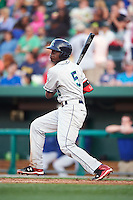 Cedar Rapids Kernels shortstop Nick Gordon (5) at bat during a game against the South Bend Cubs on June 5, 2015 at Four Winds Field in South Bend, Indiana.  South Bend defeated Cedar Rapids 9-4.  (Mike Janes/Four Seam Images)
