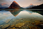 Grinnell Point and Mount Wilber, Swiftcurrent Lake, Glacier National Park, Montana