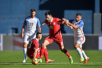 San Diego, CA - Sunday January 29, 2017: Stefan Panic, Sebastian Lletget during an international friendly between the men's national teams of the United States (USA) and Serbia (SRB) at Qualcomm Stadium.