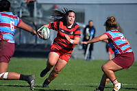 Action from the Wellington division two women's club rugby match between Poneke and Avalon at Kilbirnie Park in Wellington, New Zealand on Saturday, 15 May 2021. Photo: Dave Lintott / lintottphoto.co.nz