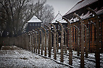 Auschwitz I concentration camp Sunday Dec 28 2014. Auschwitz concentration camp was a network of German Nazi concentration camps and extermination camps built and operated by the Third Reich in Polish areas annexed by Nazi Germany during World War II, the camp was liberated on January 27, 1945 by Soviet troops. Photo By Eyal Warshavsky