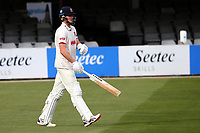 Ben Allison walks out to bat for Essex during Essex CCC vs Worcestershire CCC, LV Insurance County Championship Group 1 Cricket at The Cloudfm County Ground on 9th April 2021