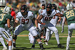 Oklahoma State Cowboys defensive end Tyler Lacy (89) and Oklahoma State Cowboys defensive tackle Amadou Fofana (97) in action during the game between the OSU Cowboys and the Baylor Bears at the McLane Stadium in Waco, Texas.
