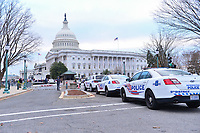 Washington, DC - January 6, 2021: DC Metropolitan Police help secure the U.S. Capitol as thousands of protesters in support of President Donald Trump surround the Capitol building January 6, 2021.  (Photo by Don Baxter/Media Images International)