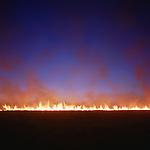 Prairie fire near Cassoday, Kansas, 1990