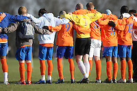 Players of Arbour Athletic FC observe a minute's silence prior to an East London Sunday League match at Hackney Marshes - 24/02/08 - MANDATORY CREDIT: Gavin Ellis/TGSPHOTO - Self billing applies where appropriate - Tel: 0845 094 6026