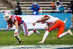 Louisiana Tech Bulldogs wide receiver Trent Taylor (5) in action during the Heart of Dallas Bowl Bowl game between the Illinois Fighting Illini and the Louisiana Tech Bulldogs at the Cotton Bowl Stadium in Dallas, Texas. Louisiana defeats Illinois 35 to 18.
