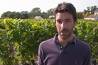 Francois Xavier Varc, winemaker, one of the owners. Domaine Charles Joguet, Clos de la Dioterie, Chinon, Loire, France