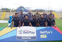 BOGOTÁ- COLOMBIA, 8-10-2020:Formación de Tgres FC. Tigres FC y Barranquilla en partido por la fecha 11 del Torneo BetPlay DIMAYOR I 2020 jugado en el estadio Metropoltano de Techo  de la ciudad de Bogotá. /Team Tigres FC .Tiges FC and Barranquilla in match for the date 11 as part of BetPlay DIMAYOR Tournament I 2020 played at the  Metropolitano de Techo  stadium of Bogota city. Photos: VizzorImage / Daniel Garzón / Contribuidor