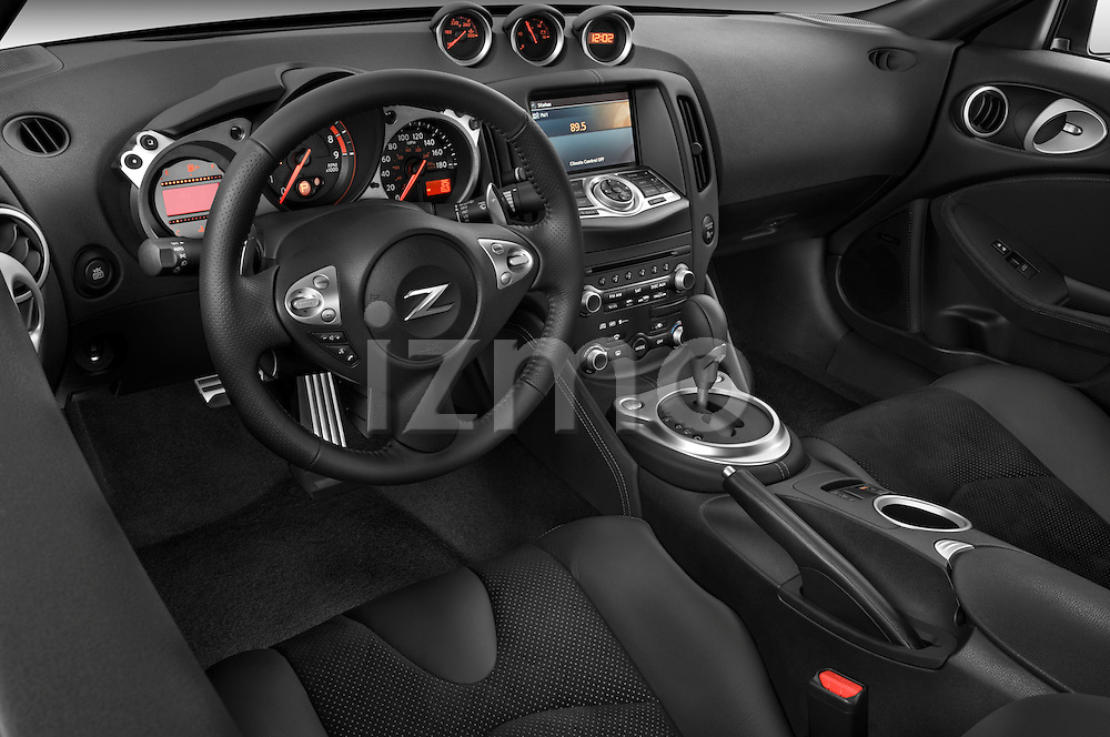 High angle dashboard view of a  2009 Nissan 370 Z Touring Coupe