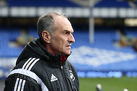 Swansea City Head Coach Francesco Guidolin pictured on the pitch ahead of the Barclays Premier League match between Everton and Swansea City played at Goodison Park, Liverpool