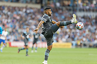 SAINT PAUL, MN - JULY 3: Ramon Abila #9 of Minnesota United FC goes for the ball during a game between San Jose Earthquakes and Minnesota United FC at Allianz Field on July 3, 2021 in Saint Paul, Minnesota.