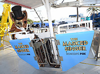MIAMI BEACH, FL - JANUARY 30: FOX SUPER BOWL LIV ACTIVATION AT LUMMUS PARK AND FOX SPORTS SOUTH BEACH STUDIO: Mr. Fox from The Masked Singer at FOX's weeklong interactive fan experience on the beach in Miami at Lummus Park on January 30, 2020 in Miami Beach, Florida. (Photo by Frank Micelotta/Fox/PictureGroup)