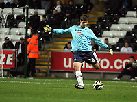 Pictured: Dimitrios Konstantopoulos of Swansae City in action <br /> Re: Carling Cup Round Four, Swansea City Football Club v Watford at the Liberty Stadium, Swansea, south Wales, Tuesday 11 November 2008.<br /> Picture by Dimitrios Legakis Photography (Athena Picture Agency), Swansea, 07815441513