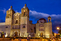 Oaxaca; Mexico; North America.  Church of Santo Domingo at Dusk.  Built 1570-1608.