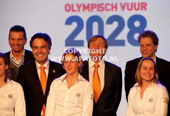 Arnhem, 080312<br /> Olympisch vuur 2028 Prins Willem Alexander<br /> Foto: Sjef Prins - APA Foto