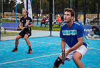 Netherlands, September 5,  2020, Amsterdam, Padel Dam, NK Padel, National Padel Championships, Men's doubles: Alexander Blom (NED) and Charlie Koper (NED)<br /> Photo: Henk Koster/tennisimages.com