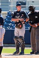 Minnesota Twins minor league catcher Kyle Knudson during an Instructional League game vs. the Tampa Bay Rays at Charlotte Sports Park in Port Charlotte, Florida;  October 5, 2010.  Photo By Mike Janes/Four Seam Images