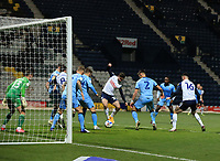 29th December 2020; Deepdale Stadium, Preston, Lancashire, England; English Football League Championship Football, Preston North End versus Coventry City; Sean Maguire of Preston North End beats Coventry City goalkeeper Ben Wilson to score and give his side a 2-0 lead after 52 minutes