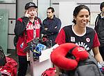 John Leslie and Michelle Salt, Sochi 2014.<br /> Team Canada arrives at the airport in Sochi for the Sochi 2014 Paralympic Winter // Équipe Canada arrive à l'aéroport de Sotchi pour Sochi 2014 Jeux paralympiques d'hiver. 05/03/2014.