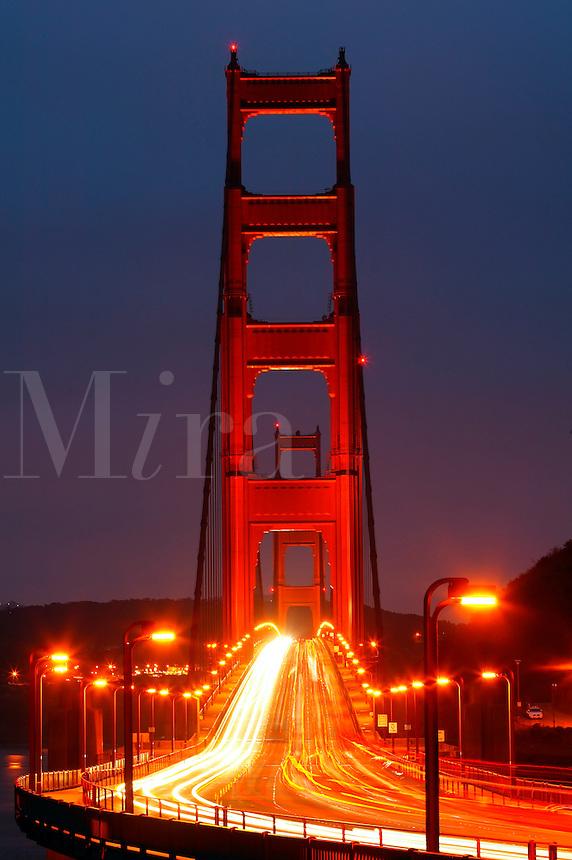The Golden Gate Bridge in the early morning, San Francisco, California