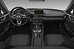 Stock photo of straight dashboard view of a 2017 Mazda MX-5 RF First Edition 2 Door Targa