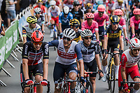 Pat on the back for Brent Van Moer (BEL/Lotto Soudal) from Jasper Stuyven (BEL/Trek-Segafredo) for his strong effort <br /> <br /> Stage 4 from Redon to Fougéres (150.4km)<br /> 108th Tour de France 2021 (2.UWT)<br /> <br /> ©kramon