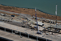 aerial photograph San Francisco Oakland Bay Bridge construction