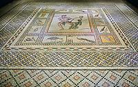 Roman mosaics - Satyros & Antiope Mosaic. Poseidon Villa Ancient Zeugama, 2nd - 3rd century AD . Zeugma Mosaic Museum, Gaziantep, Turkey.
