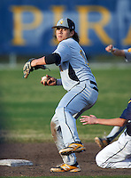 Lakewood Spartans shortstop Bo Bichette (19) throws home during a game against the Boca Ciega Pirates at Boca Ciega High School on March 2, 2016 in St. Petersburg, Florida.  Boca Ciega defeated Lakewood 2-1.  (Mike Janes/Four Seam Images)