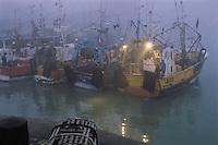 Europe/France/Poitou-Charentes/17/Charente-Maritime/La Rochelle: Aube sur le Vieux-Port chalutiers et casier de pêche à crustacé
