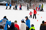 NEW HARTFORD,  CT-122616JS01-- Guests were lined up for ski lessons Monday at Ski Sundown in New Hartford. The hills opened for the season this past Friday. <br />   Jim Shannon Republican American