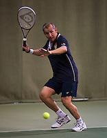 Hilversum, The Netherlands, 05.03.2014. NOVK ,National Indoor Veterans Championships of 2014, Ton Sie (NED)<br /> Photo:Tennisimages/Henk Koster