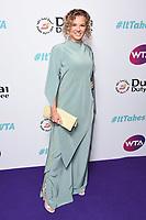 LONDON, UK. June 28, 2019: Katerina Siniakova arriving for the WTA Summer Party 2019 at the Jumeirah Carlton Tower Hotel, London.<br /> Picture: Steve Vas/Featureflash