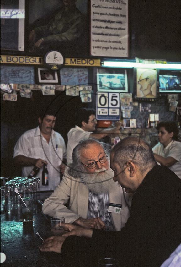 Bodeghita del Medio (the preferred bar by Ernest Hemingway) in Havana Cuba
