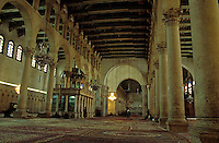 Inside the Umayyad Mosque in Damascus, Syria. The mosque holds a shrine which contains the head of John the Baptist, honored as a prophet by both Christians and Muslims alike.