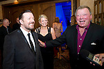 BANFF, AB, CANADA - JUNE 15:  Actor Ricky Gervais sharing a laugh with William Shatner at the 2010 Banff World Television awards on June 15, 2010 at the Banff Springs Hotel in Banff, Alberta, Canada. Photo by Jimmy Jeong *** Local Caption *** Ricky Gervais;William Shatner